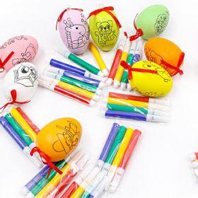Trứng tô màu gồm 1 trứng và 4 cây bút chỉ 5k8 bộ giá sỉ