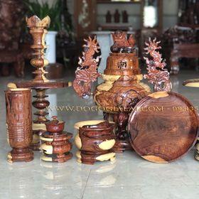 Bộ lư thờ gỗ cẩm lai