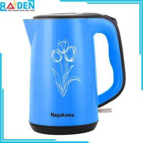Ấm siêu tốc Nagakawa NAG0310 thiết kế 2 lớp, dung tích 1.8L giá sỉ