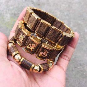 vòng trầm hương sánh bọc vàng giá sỉ