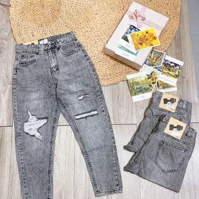 Quần jeans rách dáng baggy sml giá sỉ