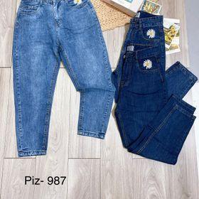 Quàn jeans dáng baggy kiểu hoa cúc size sml giá sỉ