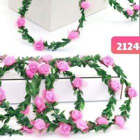 Vòng hoa đội đầu hồng giá sỉ
