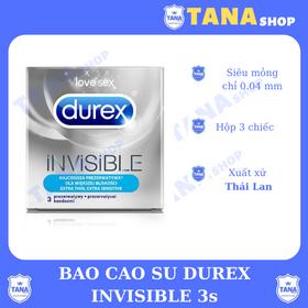 Bao cao su Durex INViSIBLE 3s siêu mỏng giá sỉ