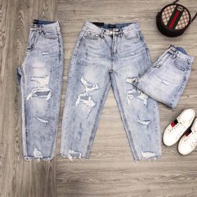 Quần jean nữ baggy rách MS3088 thời trang jean nam nữ 2KJean giá sỉ