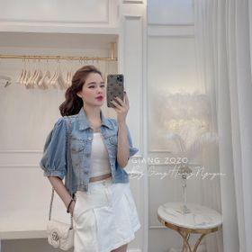 Áo khoác jean nữ tay phồng Freesize thời trang chuyên sỉ jean nam nữ 2Kjean giá sỉ
