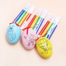 Trứng tô màu. Dùng trang trí Giá sỉ 5800đ /1 bộ gồm 1 trứng và 4 bút lông 4 màu, có rất nhìu mẫu Có rất nhiều mẫu nhe giá sỉ