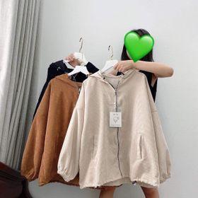 Áo khoác kaki nhung giá sỉ