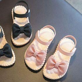 Giày sandal nơ size bé gái và mẹ cao cấp giá sỉ