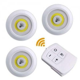 Bộ 3 đèn gắn tường tủ quần áo có remote từ xa giá sỉ