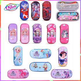 Hộp đựng bút cao cấp in hình 3D đa sắc màu nhiều mẫu hình cho bé thời trang Shalla giá sỉ