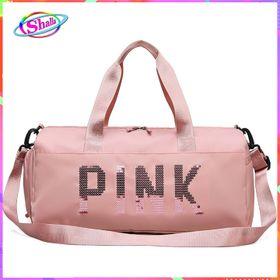 Túi trống đu lịch cao cấp Pink thời trang hàn quốc có ngăn đựng giày Shalla giá sỉ