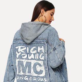 Áo khoác jeans nữ unisex Rick young MC giá sỉ