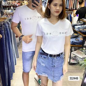 Áo thun cặp đôi chất cotton co dãn 4 chiều mã 6