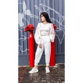 Bộ áo quần thể thao thời trang nữ phối trắng hồng cao cấp giá sỉ
