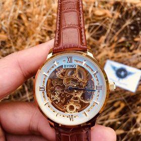 Đồng hồ cơ Byino dây da 01 giá sỉ