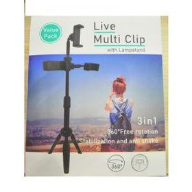 Giá đỡ Live Multi Clip để bàn 3 điện thoại - DÀI giá sỉ