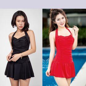 Bikini Nữ Một Mảnh ,Màu Đen, Đỏ Freesize Mặc Đi Biển BHV039 giá sỉ
