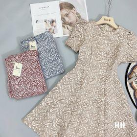 Váy xòe xốp vân nổi giá sỉ