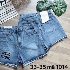 Quần short jean nữ size đại in chữ giá sỉ