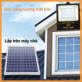 Đèn năng lượng mặt trời 100w abs - đèn năn lượng dùng sân vườn giá sỉ