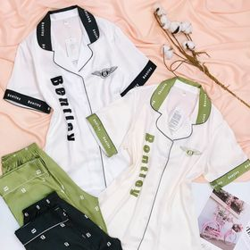 Đồ ngủ đồ mặc nhà tnqd Phối Bentley chất lụa hàng Quảng Châu giá sỉ