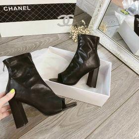 Giày bot da hở mũi cao gót giá sỉ