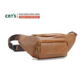 Túi bao tử CNT unisex TĐX 55 đeo được 2 kiểu năng động BÒ ĐẬM giá sỉ