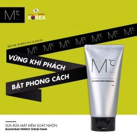 Sữa rửa mặt MdoC Blackhead Perfect Scrub Foam 150g - Mỹ Phẩm Nam Hàn Quốc giá sỉ