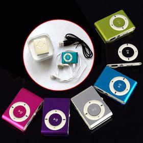 Máy nghe nhạc Mp3 mini nhiều màu kèm tai nghe dây cáp sạc giá sỉ
