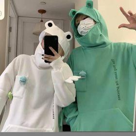 Áo hoodie ếch unisex nam nữ freesize dưới 65kg giá sỉ