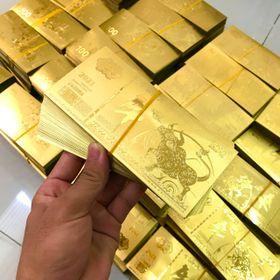 Tiền Con Trâu Macao Mạ Vàng Platics giá sỉ
