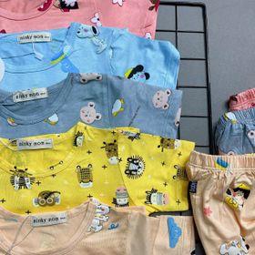 Bộ áo quần ngắn tay bé gái hoạt tiết đáng yêu BN001 giá sỉ