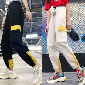 Quần kaki jogger nữ nắp túi mịn giá sỉ