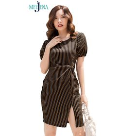 Đầm Dáng Suông Nữ Ôm Body42-53kgVải Đầm Nữ Thun Cát Hàn - MEEJENA - 3065 giá sỉ
