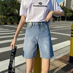 Quần ngố jean nữ thêu hoa cúc Ms17 kho chuyên sỉ jean 2KJean giá sỉ