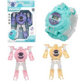 Đồng hồ điện tử biến hình robot 2in1 cho bé giá sỉ