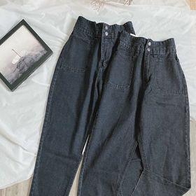 Quần baggy jean nữ lưng cao hai túi size đại Ms89 kho chuyên sỉ jean 2Kjean giá sỉ