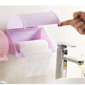 Hộp đựng giấy vệ sinh dán tường có khay đựng đồ tiện lợi giá sỉ