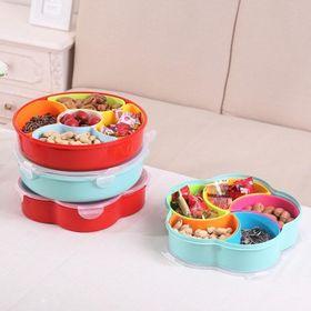 Khay đựng bánh mứt kẹo Tết 5 ngăn có thể tháo rời giá sỉ