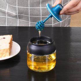 Hủ thủy tinh mini đựng gia vị kèm cây khuấy mật ong giá sỉ