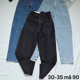 Quần baggy jean nữ size lưng cao kiểu 1 túi Ms90 kho chuyên sỉ jean 2Kjean giá sỉ
