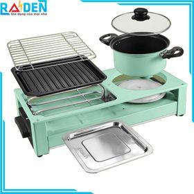 Bếp lẩu nướng 2 mâm nhiệt Nineshield DK-303 giá sỉ