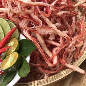 Đồ ăn vặt - Mực Xé Hấp Nước Dừa giá sỉ