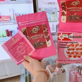 Kẹo giảm cân socola đan mạch màu hồng giá sỉ