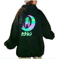 Áo hoodie in phản quang thuỷ thủ mặt trăng giá sỉ