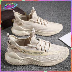Giày Sneake nam buộc dây cổ cao lưới vàng nhạt mẫu mới nhât của năm CCLVN 002 Shalla giá sỉ
