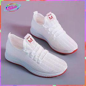 Giày Sneake Nữ Chạy Bộ, Tập gym Siêu đàn hồi thoáng khí viền đế Đỏ SE43 Shalla giá sỉ