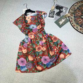 Đầm hoa văn chất Quảng Châu giá sỉ