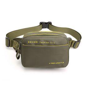 Túi bao tử đeo bụng vải dù chống nước màu xanh lính TDC010 giá sỉ
